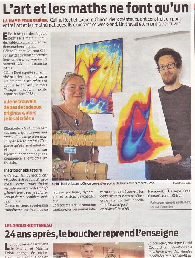 Article Presse Océan sur Casiope Créations et Laurent Chiron