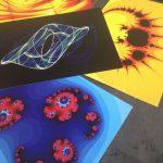 Exemples de tableaux A4 fractals, de la gamme Warm Art