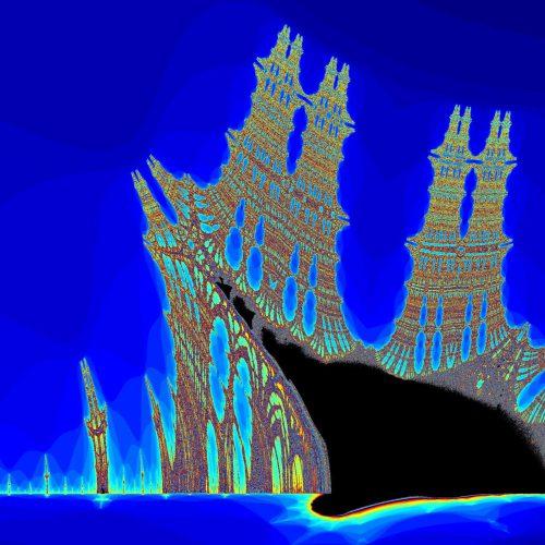 Fractale de Mandelbrot Burning ship, mathématiques et géométrique
