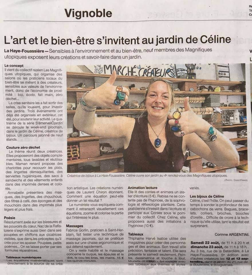 Article de Ouest France salon au jardin