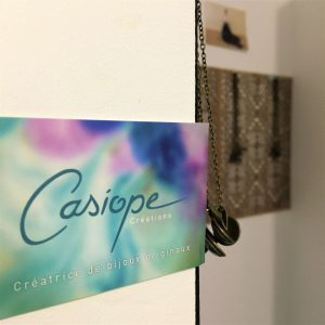 Photo des coulisses de l'atelier de Casiope Créations